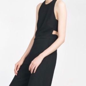 Wide Leg Jumpsuit With Cut Out Side/Back Detail